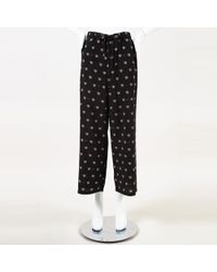 MUVEIL - Telephone Print Cropped Trousers - Lyst
