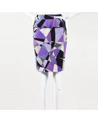 Emilio Pucci Geometric Wool Mini Skirt - Purple