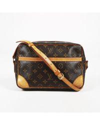 "Louis Vuitton - Brown Monogram Coated Canvas ""trocadero 27"" Bag - Lyst"