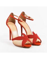 """Charlotte Olympia - Red Embellished Suede """"sandrine Starfish"""" Pumps Sz 39 - Lyst"""