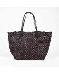 "Louis Vuitton - ""fusain"" Brown ""monogram Idylle"" Canvas ""neverfull Mm"" Tote - Lyst"