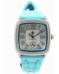 Judith Ripka - Blue Silicone & Stainless Steel Watch - Lyst