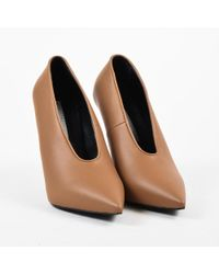 92f567f9e522 Stella McCartney - Nwot Brown Vegan Leather Pointed Toe High Heel Pumps -  Lyst