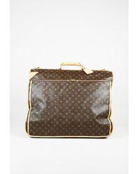 "Louis Vuitton - Brown Monogram Coated Canvas Leather Trim ""garment Carrier"" Bag - Lyst"