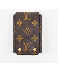 Louis Vuitton - Brown Monogram Canvas & Leather Ipod Case - Lyst
