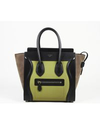"Céline - Suede Leather Micro ""Luggage"" Bag - Lyst"