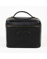 Chanel - Vintage Caviar Cc Cosmetic Case - Lyst