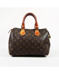 "Louis Vuitton - Vintage Monogram Coated Canvas ""speedy 25"" Bag - Lyst"