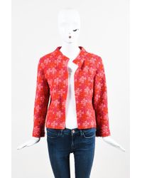 Marc Jacobs - Red Pink Purple Knit Short Jacket - Lyst