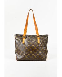 "Louis Vuitton | Brown Monogram Coated Canvas ""piano Cabas"" Bag 