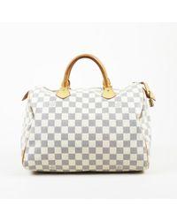"Louis Vuitton - ""speedy 30"" Damier Azur Coated Canvas Top Handle Bag - Lyst"