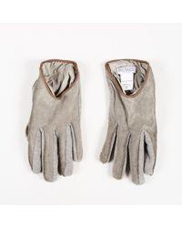 Brunello Cucinelli - Grey Calf Hair Knit Gloves - Lyst