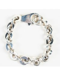 Hermès - Sterling Silver Oversized Chain Link Bracelet Sz L - Lyst