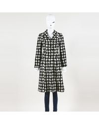 Moschino - Houndstooth Flared Coat - Lyst
