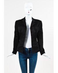 Alaïa - Black Cotton Structured Corset Stitched Ls Blazer Jacket Sz 8 - Lyst
