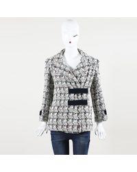 Chanel - White Tweed Jacket - Lyst