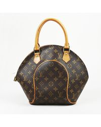 5ce2a6d8a5f9 Lyst - Louis Vuitton Ellipse Pm Monogram Canvas Hand Bag in Brown