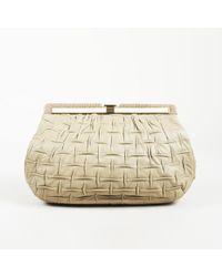 Judith Leiber - Textured Leather Snakeskin Clutch - Lyst