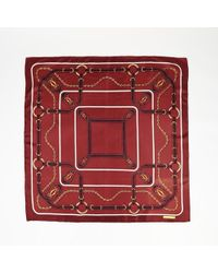 Cartier - Red Printed Scarf - Lyst