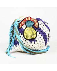 Peter Pilotto - Multicolor Crochet Patch Embellished Shoulder Bag - Lyst