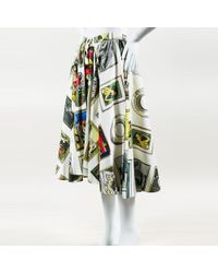 "Olympia Le-Tan - Nwt Multicolor Printed ""frida Collector"" Full Midi Skirt - Lyst"
