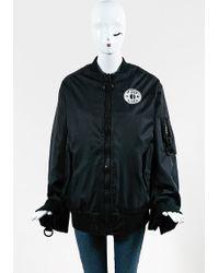 KTZ - Black Nylon Logo Embroidery Zipped Bomber Jacket - Lyst
