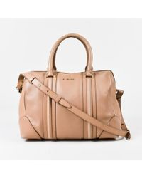 "Givenchy - Beige Leather Top Handle Medium ""lucrezia"" Duffle Bag - Lyst"