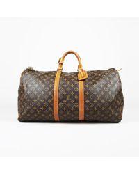 """Louis Vuitton Vintage Brown Monogram """"keepall 55"""" Duffel Bag"""