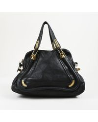 "Chloé - Black Quilted Leather ""medium Paraty"" Satchel Bag - Lyst"