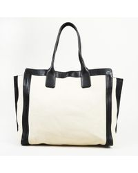 "Chloé - ""allison"" Cream Leather Tote Bag - Lyst"