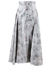 ADEAM - Multicolour Cotton Embroidered Ball Skirt - Lyst