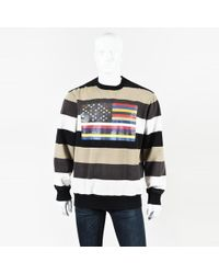 Givenchy - Mens Brown Multi Cotton Striped Flag Ls Pullover Sweater - Lyst