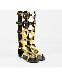 9a06829bfcf6 Giuseppe Zanotti - Gold Leather Knee High