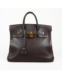 Hermès - Vintage Haut À Courroies Brown Leather Handbag - Lyst