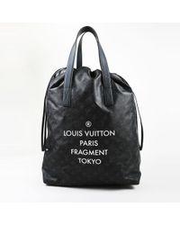 """Louis Vuitton - Black """"monogram Eclipse"""" Coated Canvas """"cabas Light"""" Shoulder Bag - Lyst"""