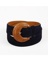 Ralph Lauren - Blue Suede Belt - Lyst