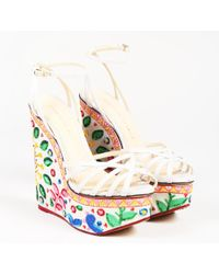 Charlotte Olympia - Beige Multicolor Embroidered Celebration Meredith Sandal - Lyst