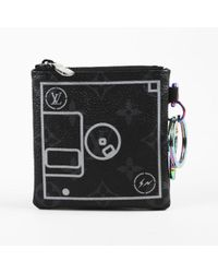 Louis Vuitton - Limited Edition Black Monogram Eclipse Canvas Floppy Disk Pouch - Lyst