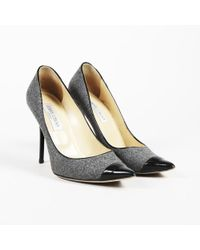 43ebddb7eef4 Chanel  black Wool Blend And Leather Cap Toe Mary Jane Block Heel ...