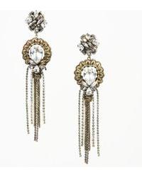 Erickson Beamon - Brass Tone Crystal Drop Earrings - Lyst