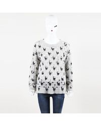 "360cashmere - 360 Cashmere ""avril"" Skull Distressed Sweater - Lyst"