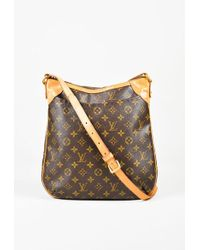 "Louis Vuitton - Brown Monogram Coated Canvas ""odeon Mm"" Shoulder Bag - Lyst"