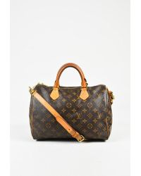 "Louis Vuitton - Brown Monogram Coated Canvas ""bandouliere Speedy 30"" Bag - Lyst"