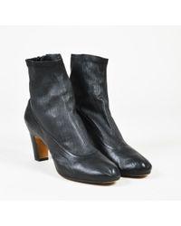 Maison Margiela - Black Leather Sock Booties - Lyst