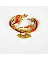 "Hermès - Multicolour Silk Twill Tassel Print ""poste Et Cavalerie"" Scarf - Lyst"