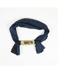 Chloé - Blue Striped Fabric Belt - Lyst