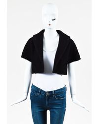 Alaïa | Black Purple Textured Short Sleeve Bolero Jacket | Lyst