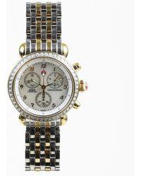 "Michele - ""csd Diamond Chronograph"" Stainless Steel Diamond Watch - Lyst"