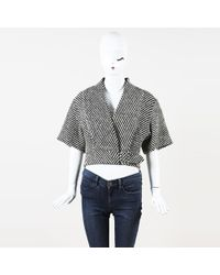 J. Mendel - Striped Wool Jacket - Lyst