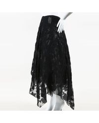 Marc Le Bihan - Black Silk Embroidered Full Skirt - Lyst